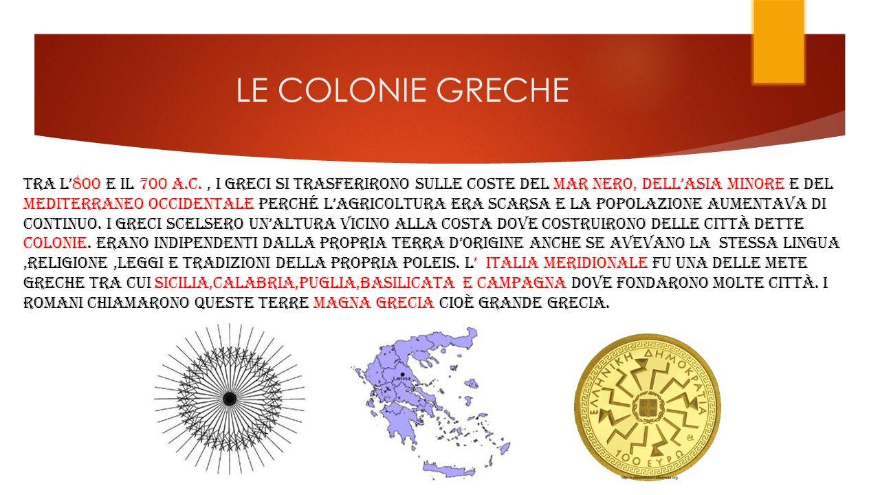 LE COLONIE GRECHE