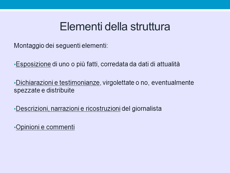 Elementi della struttura