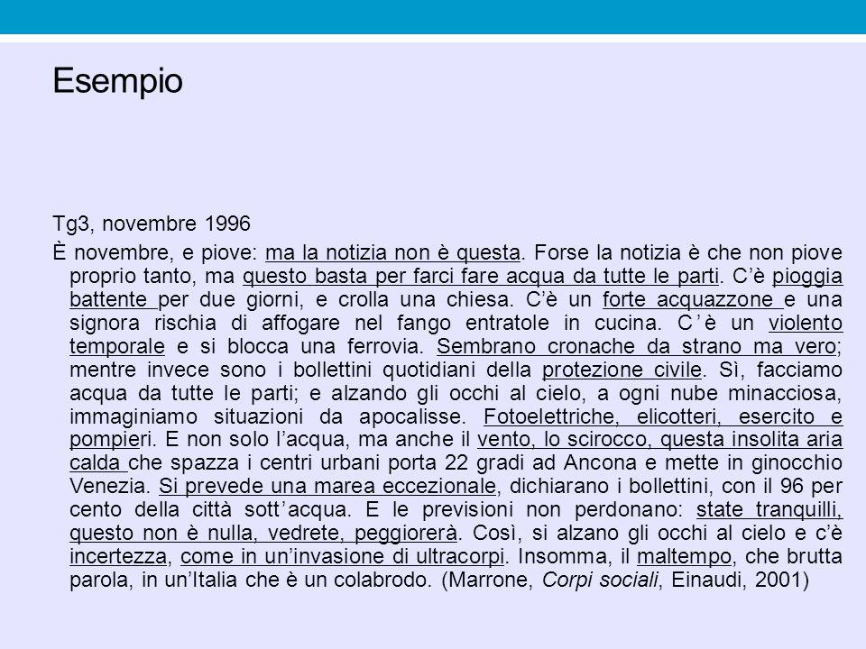 Esempio Tg3, novembre 1996.