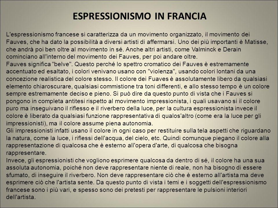 ESPRESSIONISMO IN FRANCIA