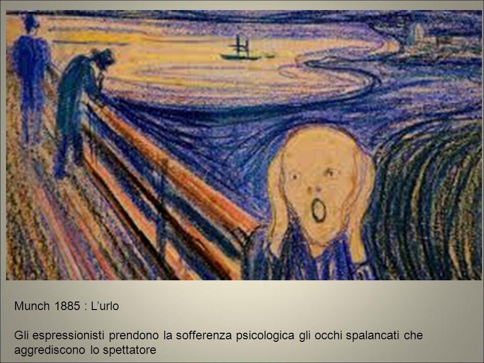 Munch 1885 gli espr prendono la sofferenza psicologica gli occhi spalancati che aggrediscono lo spettatore