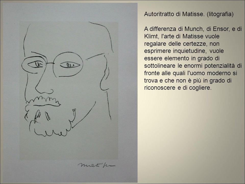 Autoritratto di Matisse. (litografia)