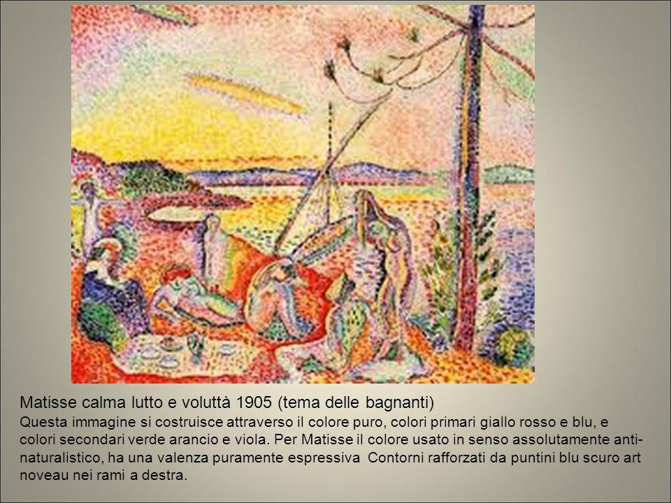 Matisse calma lutto e voluttà 1905 (tema delle bagnanti)