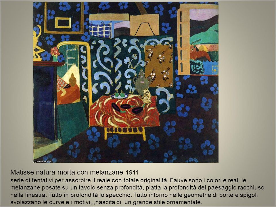 Matisse natura morta con melanzane 1911