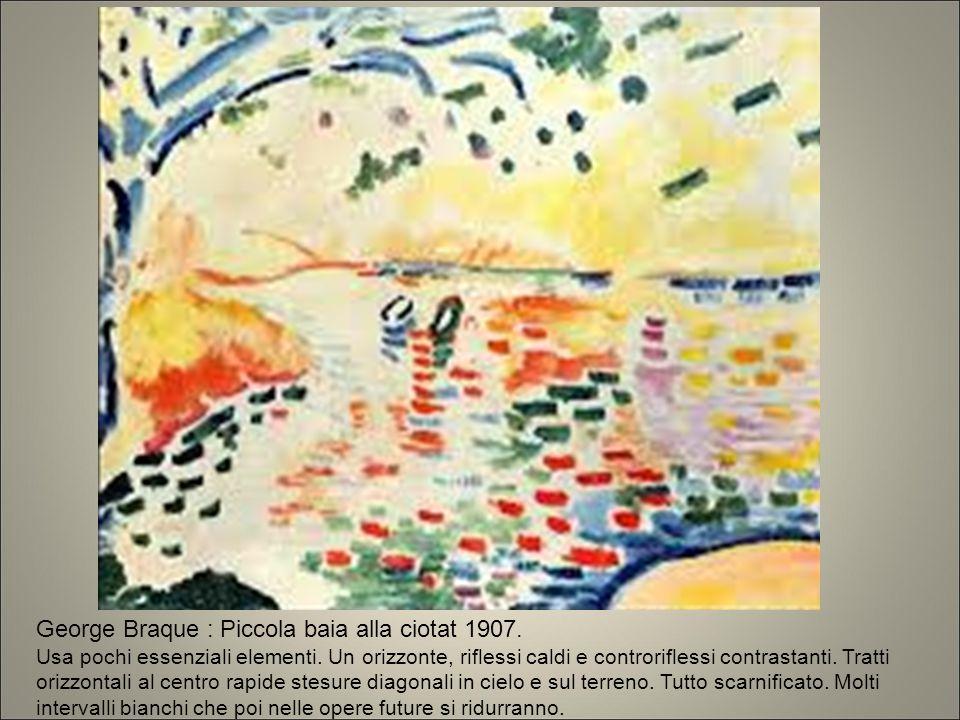 George Braque : Piccola baia alla ciotat 1907.