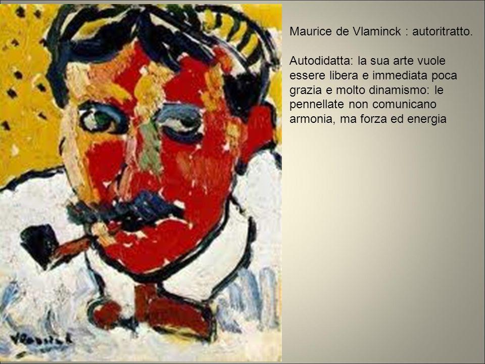 Maurice de Vlaminck : autoritratto.