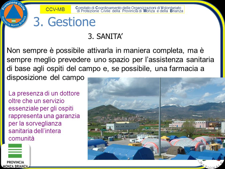 3. Gestione 3. SANITA'