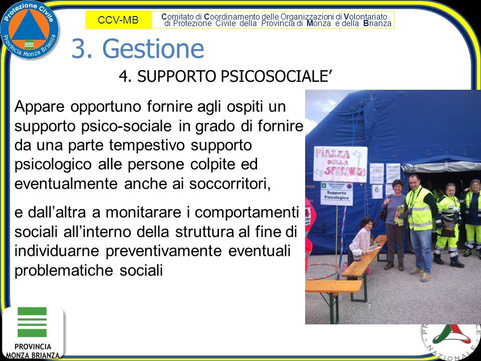 4. SUPPORTO PSICOSOCIALE'