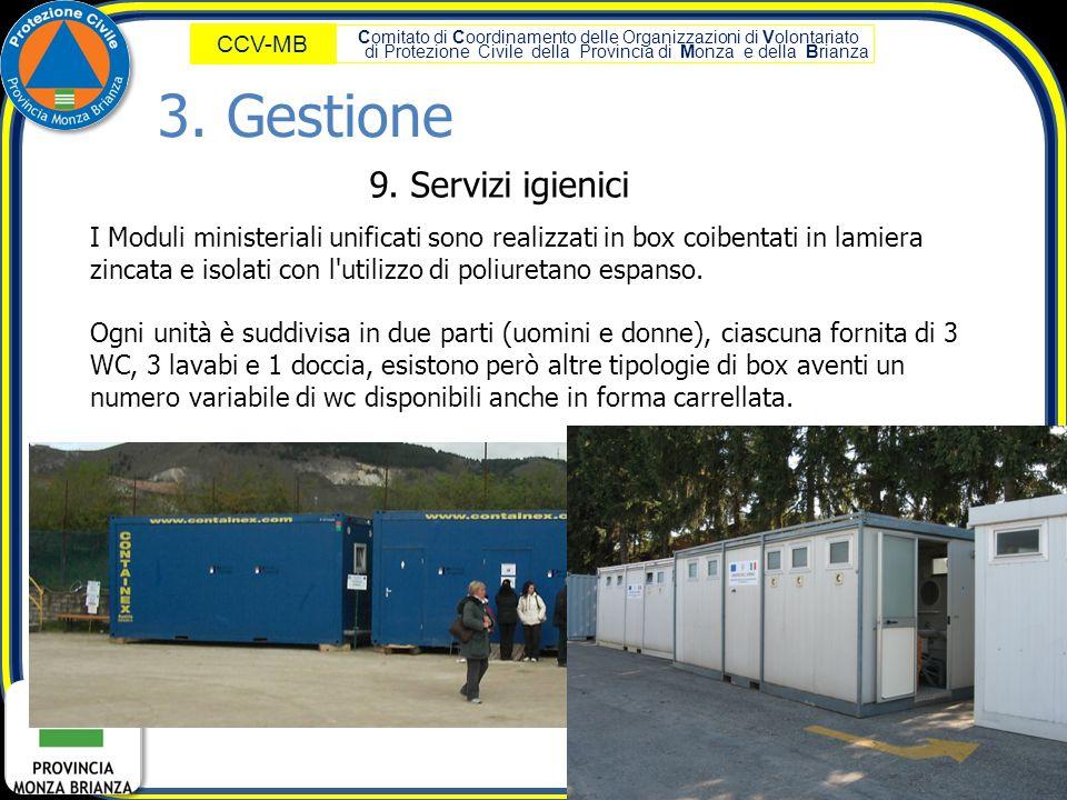 3. Gestione 9. Servizi igienici