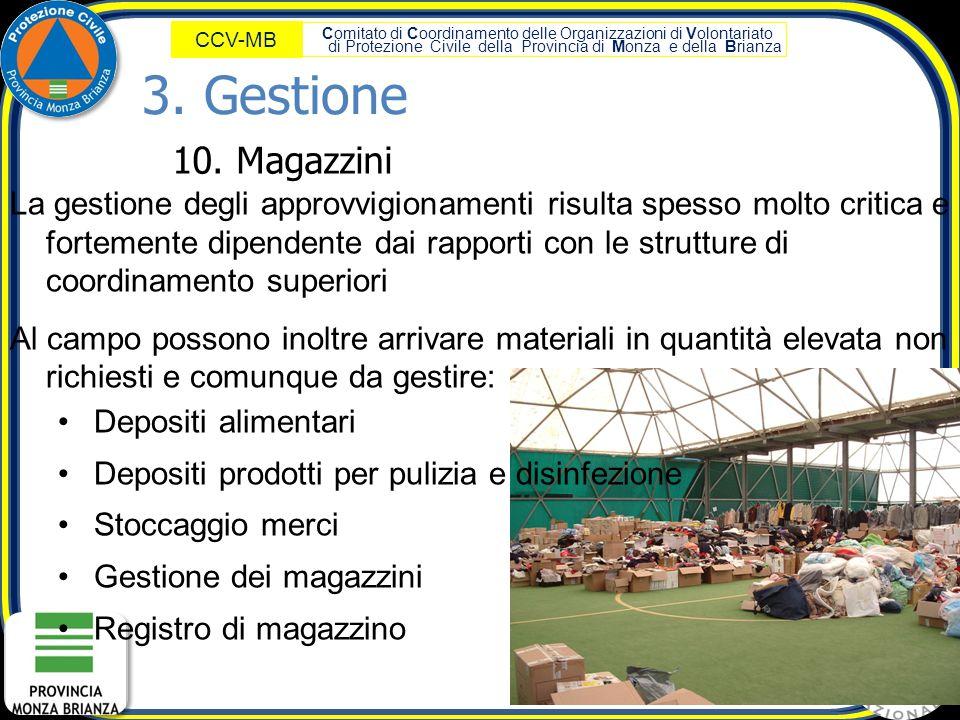 3. Gestione 10. Magazzini.