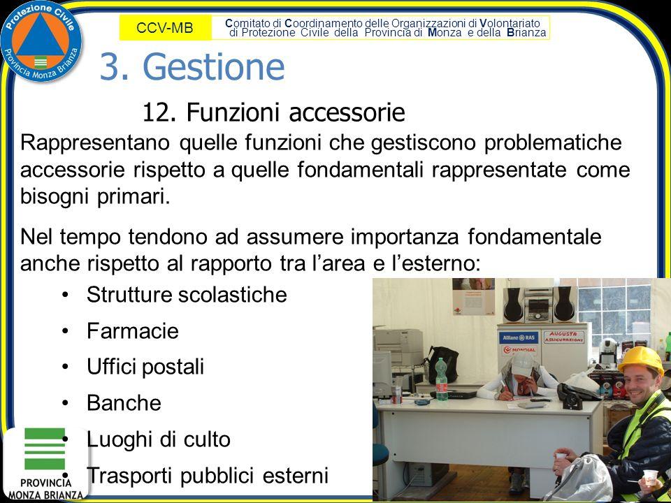 3. Gestione 12. Funzioni accessorie