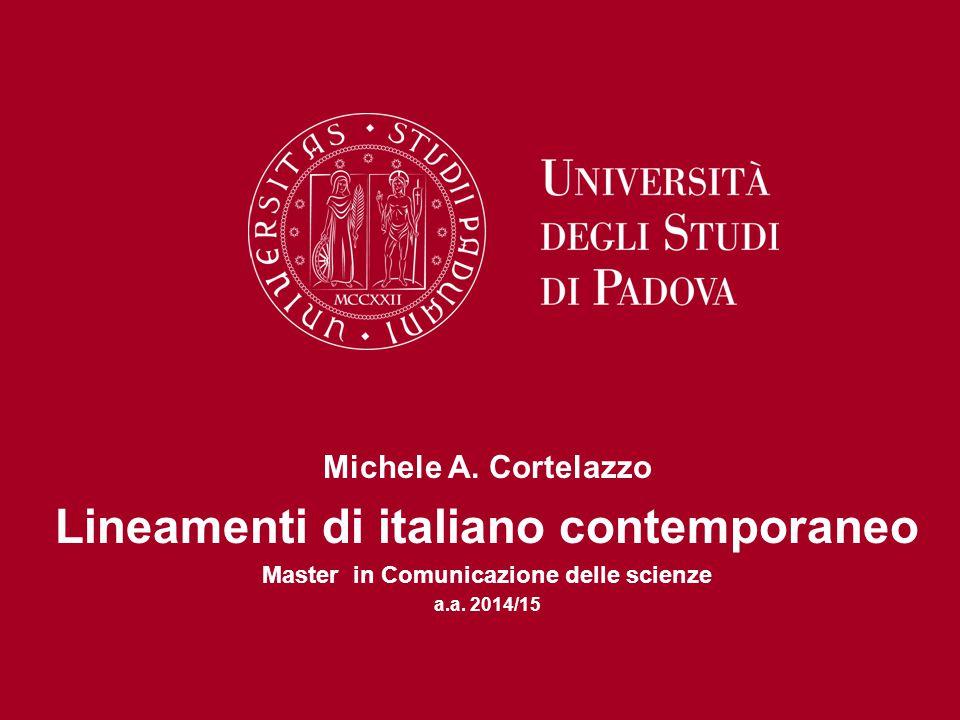 Lineamenti di italiano contemporaneo
