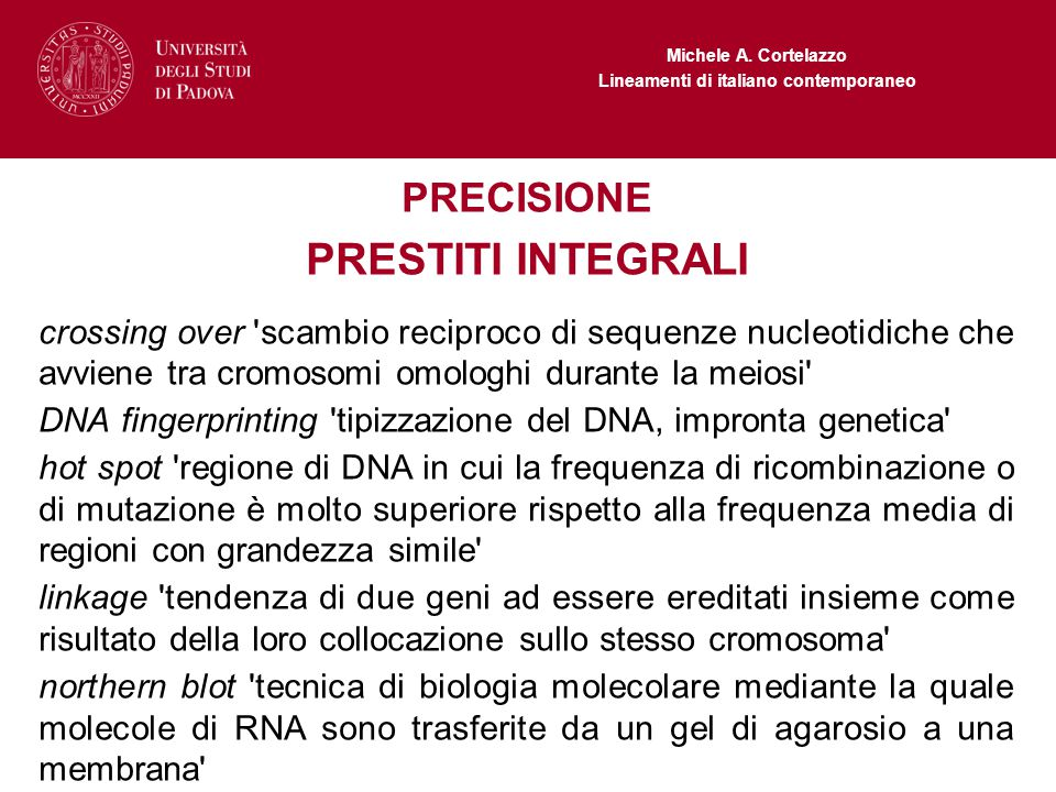 PRESTITI INTEGRALI PRECISIONE