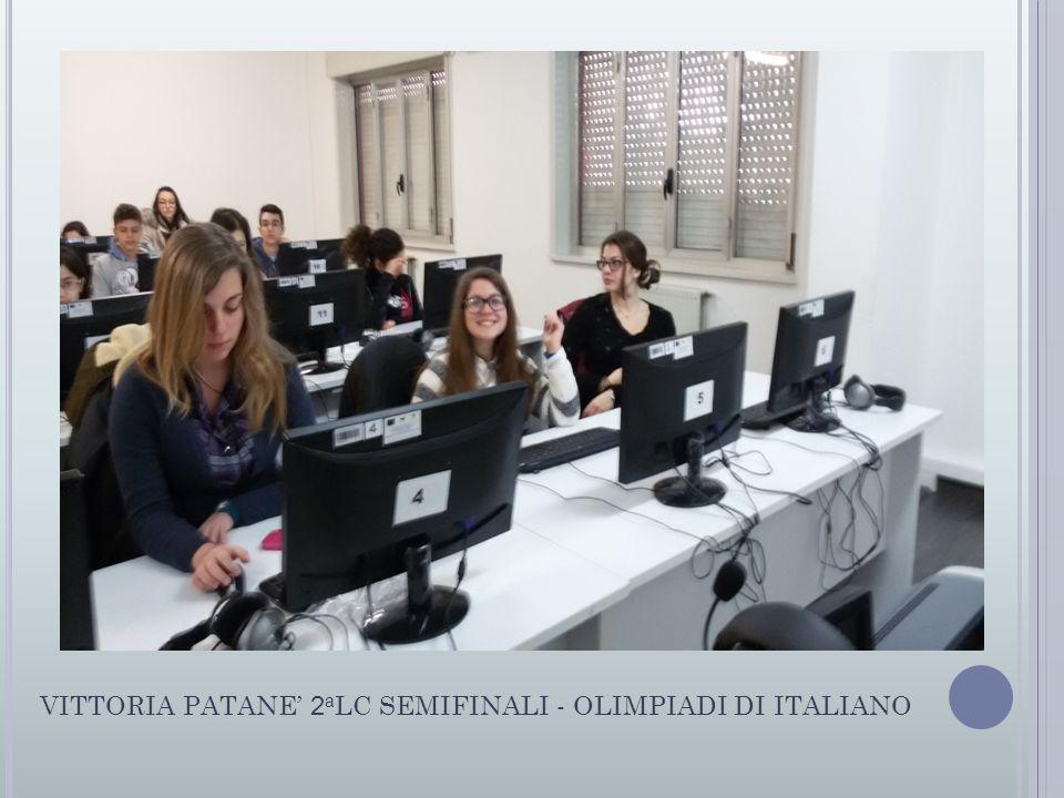 VITTORIA PATANE' 2aLC SEMIFINALI - OLIMPIADI DI ITALIANO