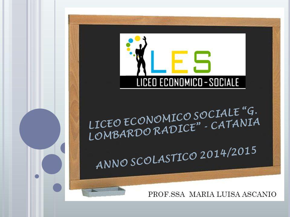LICEO ECONOMICO SOCIALE G. LOMBARDO RADICE - CATANIA