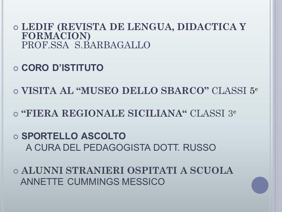LEDIF (REVISTA DE LENGUA, DIDACTICA Y FORMACION) PROF.SSA S.BARBAGALLO