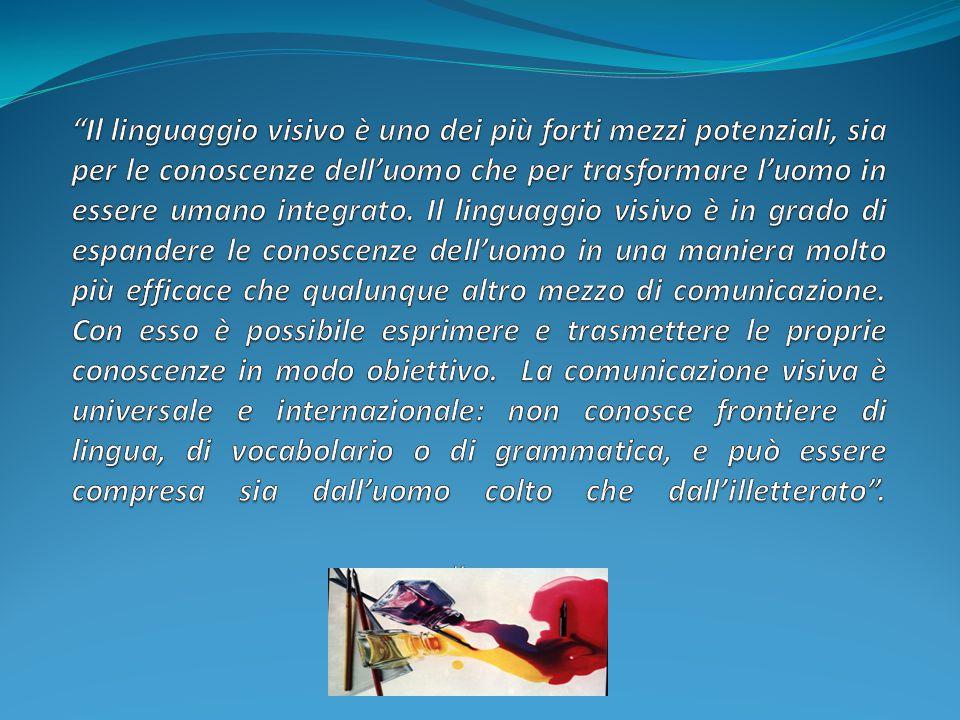 Il linguaggio visivo è uno dei più forti mezzi potenziali, sia per le conoscenze dell'uomo che per trasformare l'uomo in essere umano integrato.