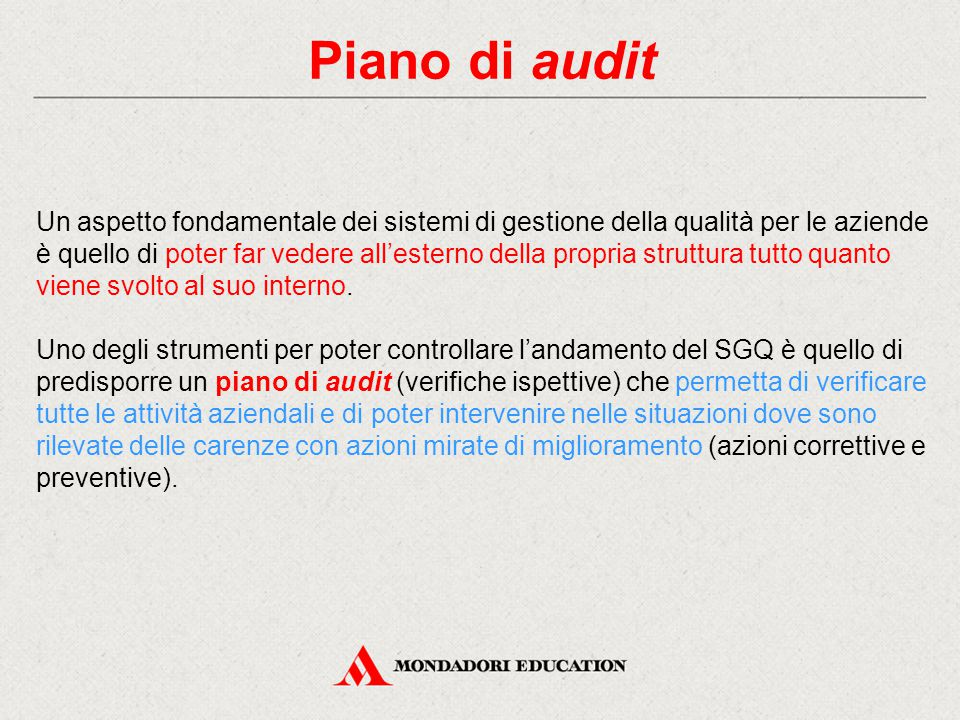 Piano di audit