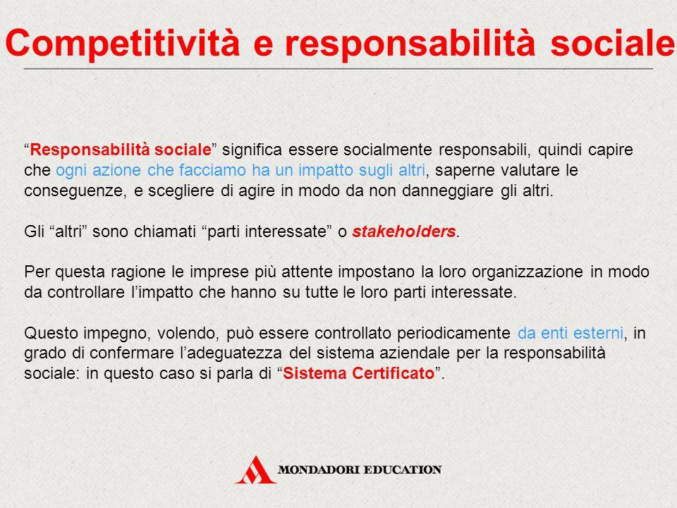 Competitività e responsabilità sociale
