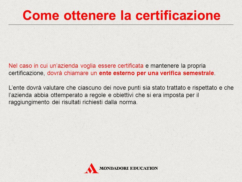 Come ottenere la certificazione