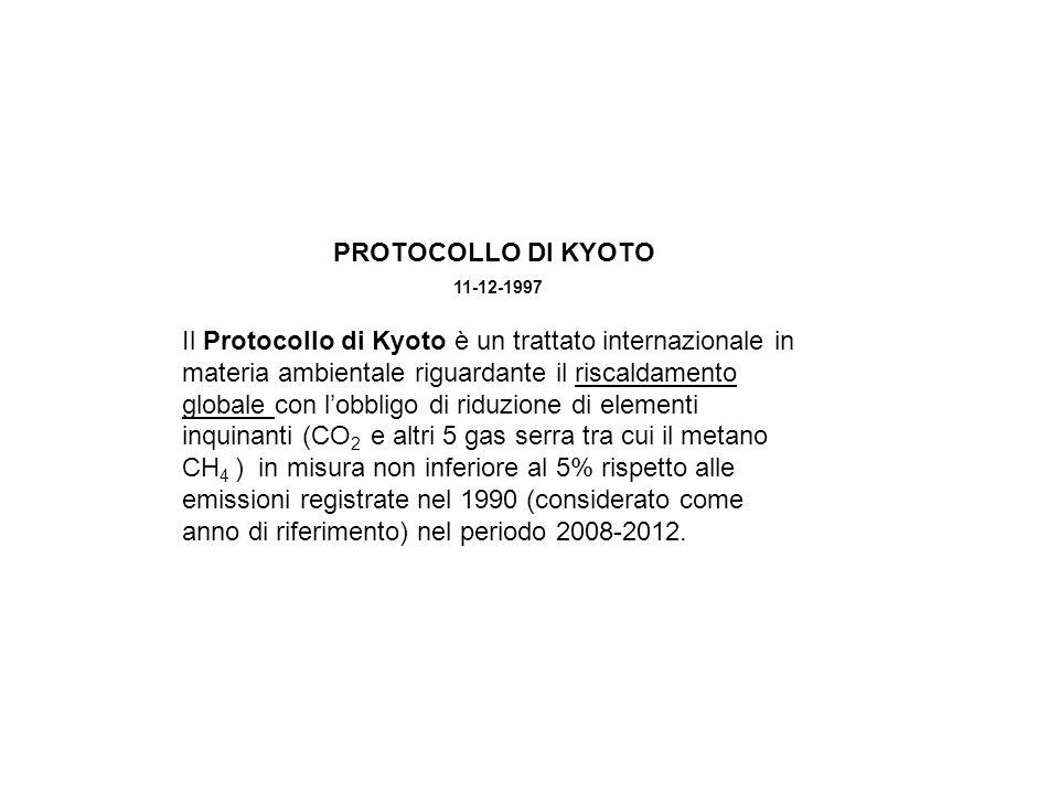 PROTOCOLLO DI KYOTO 11-12-1997
