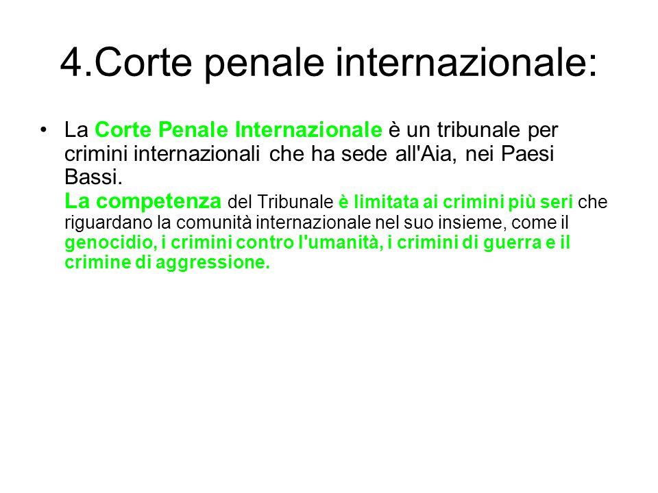 4.Corte penale internazionale: