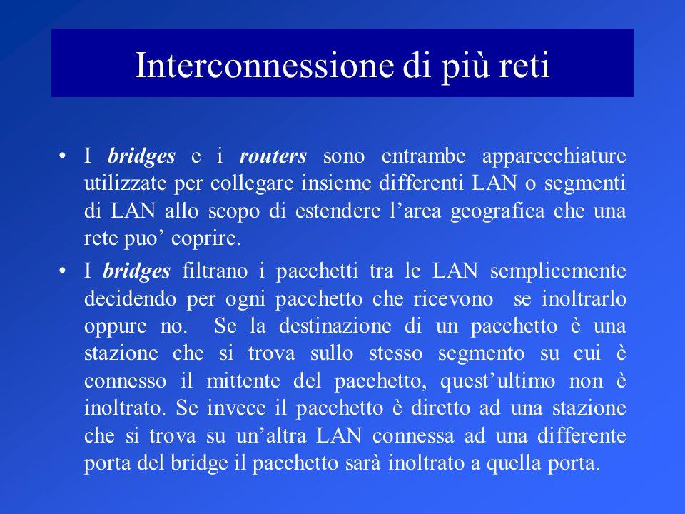 Interconnessione di più reti
