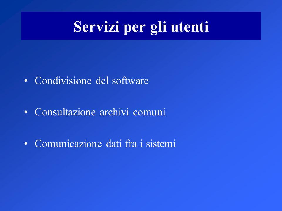 Servizi per gli utenti Condivisione del software