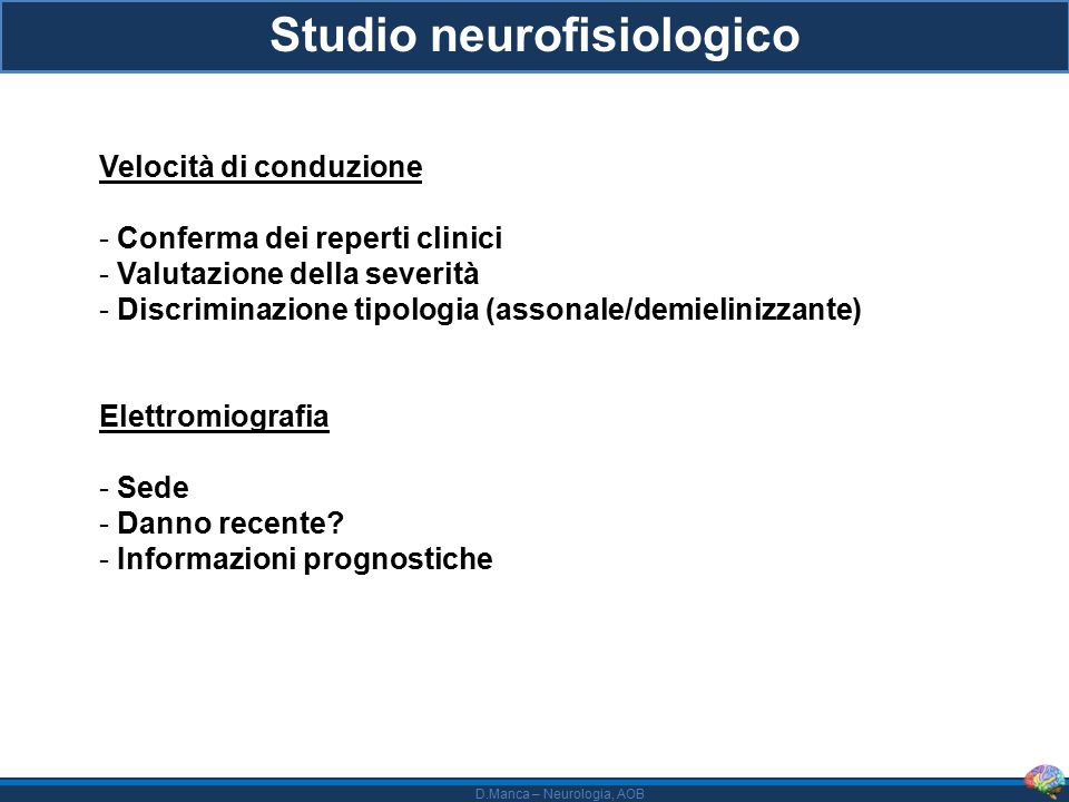 Studio neurofisiologico