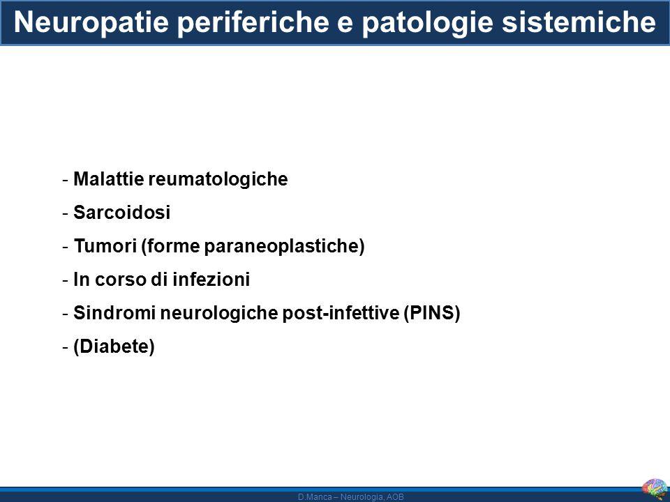 Neuropatie periferiche e patologie sistemiche