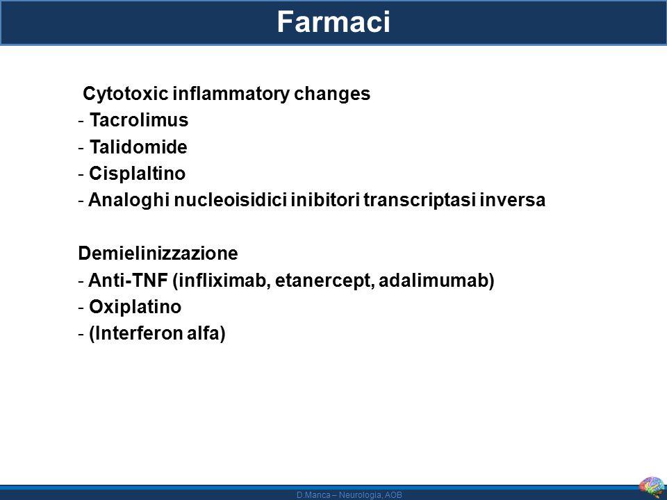 Farmaci Cytotoxic inflammatory changes Tacrolimus Talidomide