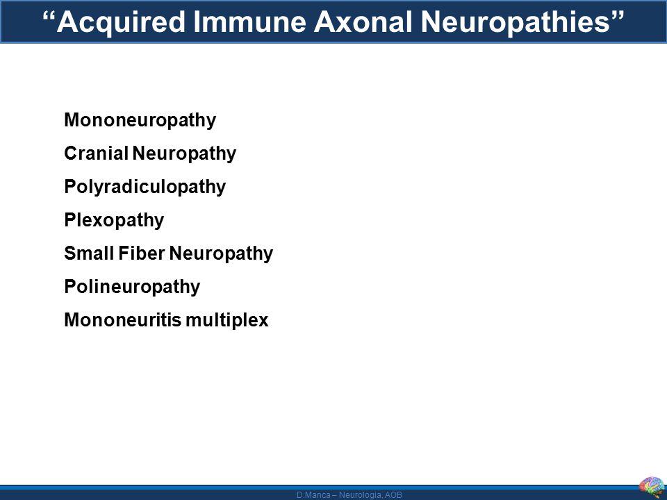Acquired Immune Axonal Neuropathies