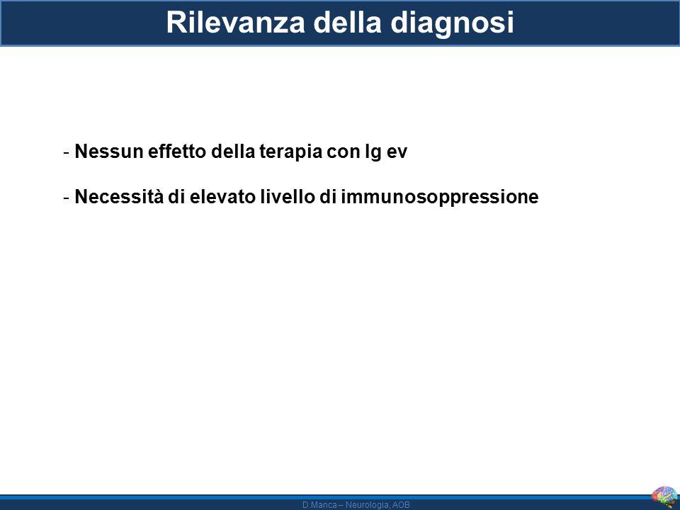 Rilevanza della diagnosi