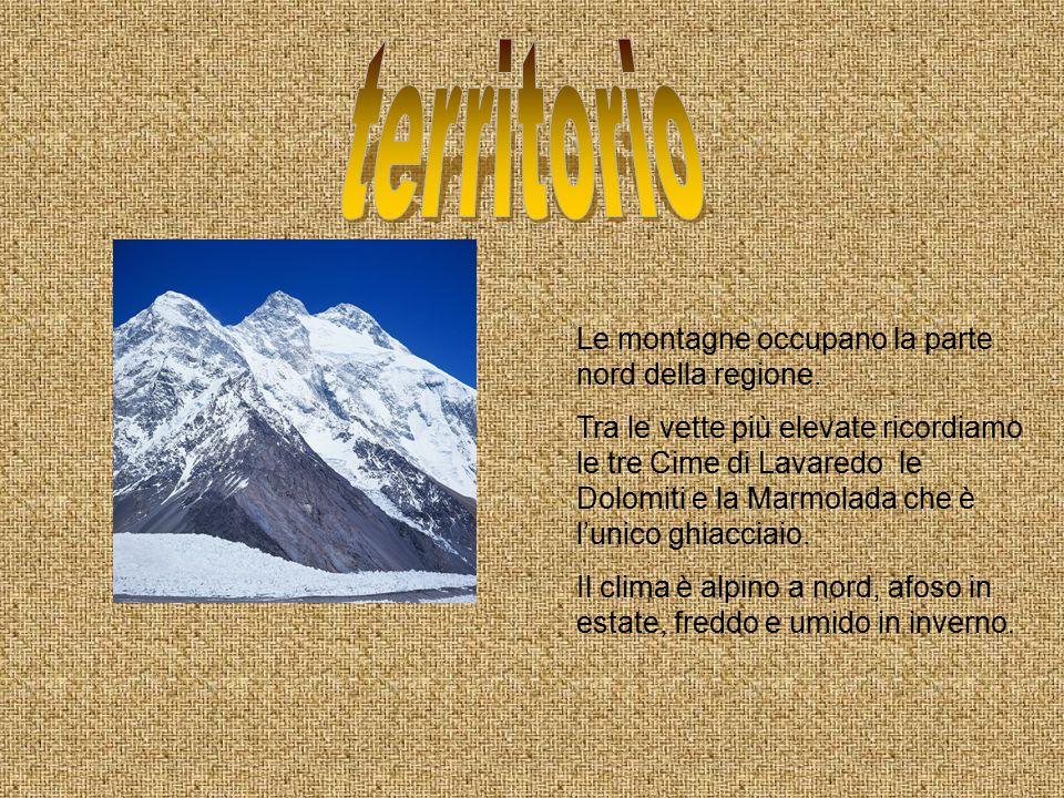 territorio Le montagne occupano la parte nord della regione.