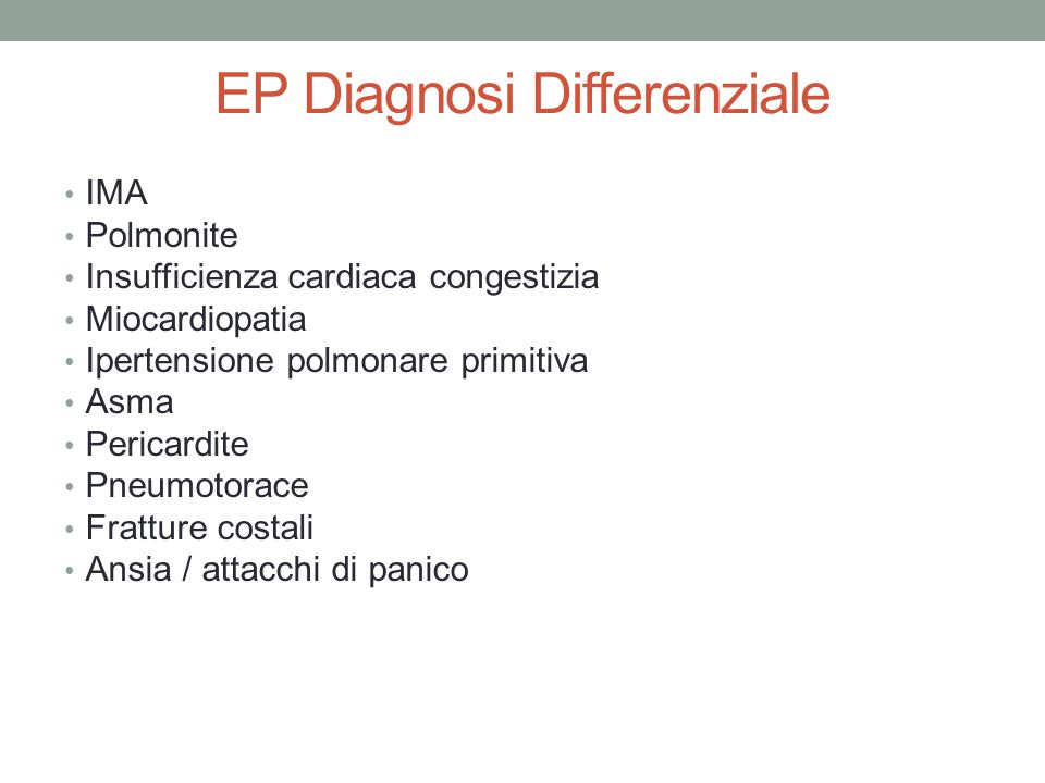 EP Diagnosi Differenziale