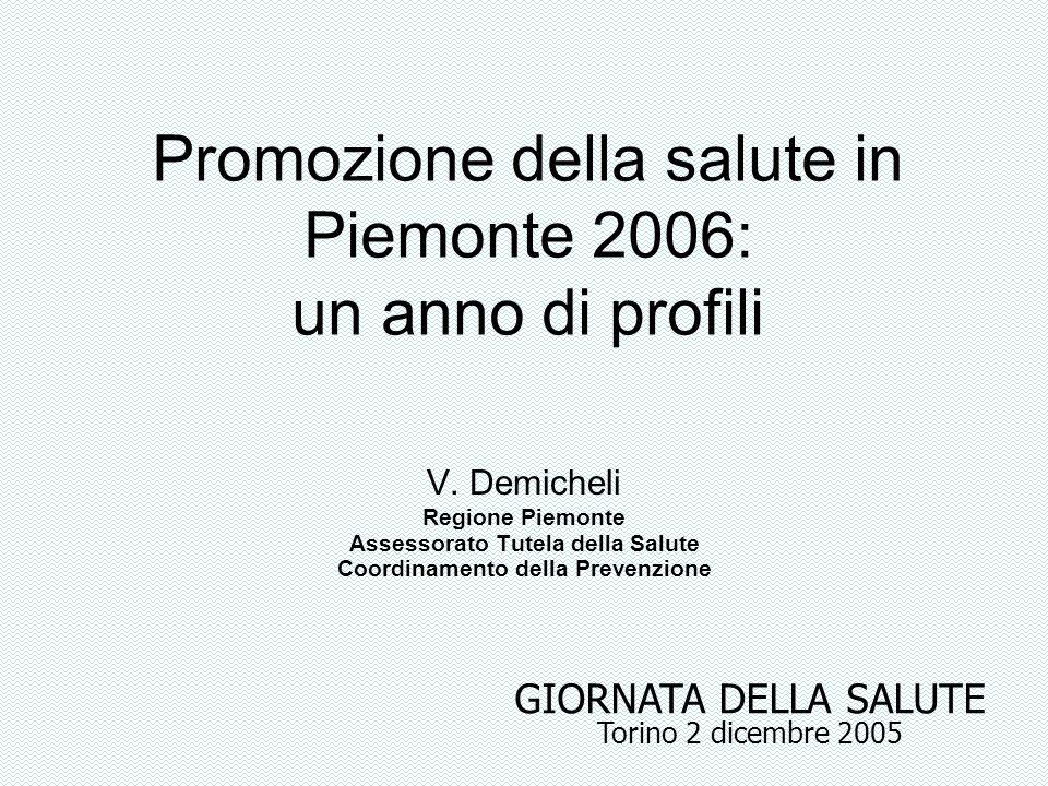 Promozione della salute in Piemonte 2006: un anno di profili