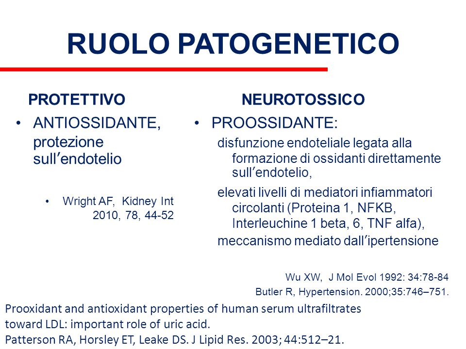 RUOLO PATOGENETICO PROTETTIVO NEUROTOSSICO