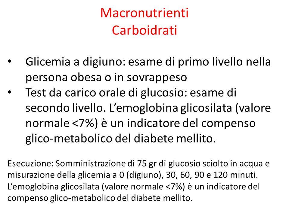 Macronutrienti Carboidrati