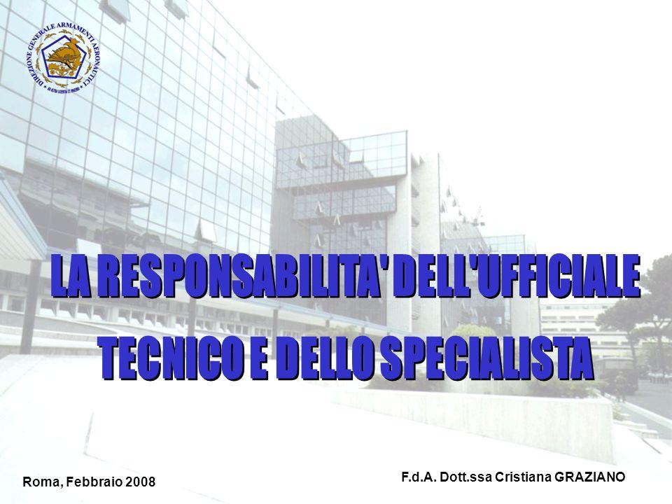 LA RESPONSABILITA DELL UFFICIALE TECNICO E DELLO SPECIALISTA