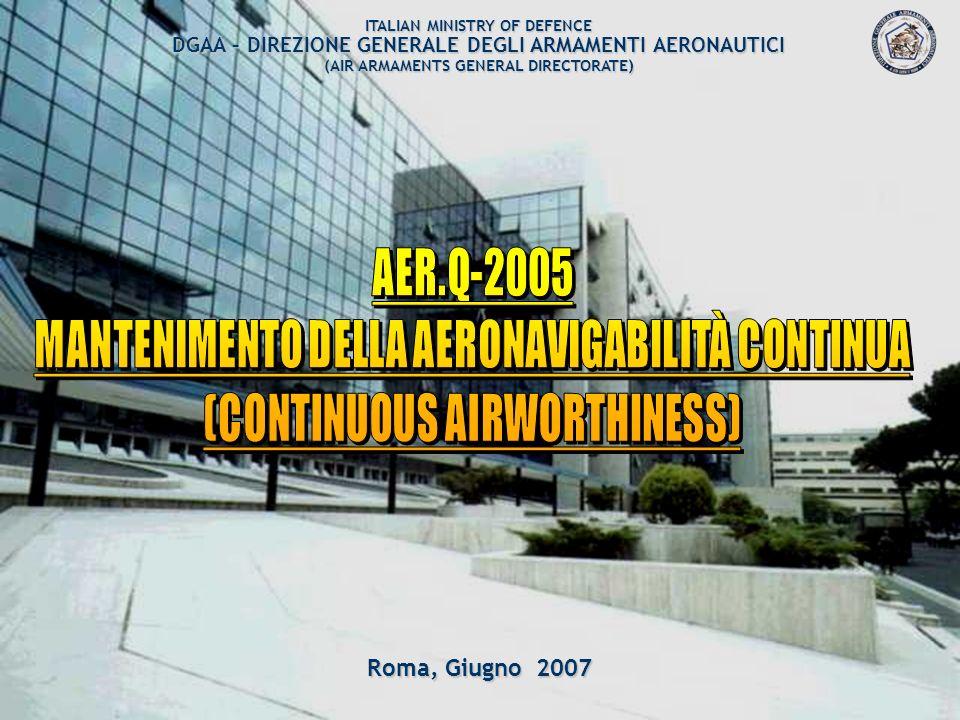 MANTENIMENTO DELLA AERONAVIGABILITÀ CONTINUA
