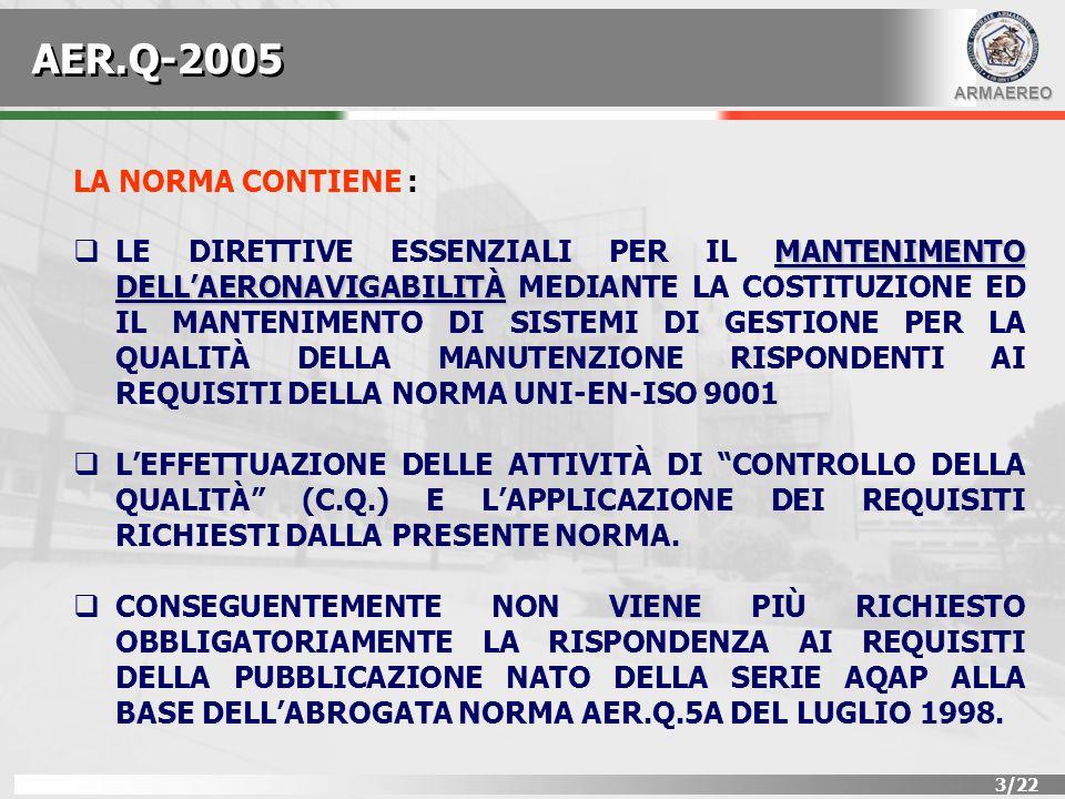 AER.Q-2005 LA NORMA CONTIENE :