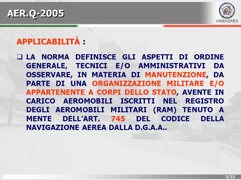AER.Q-2005 APPLICABILITÀ :
