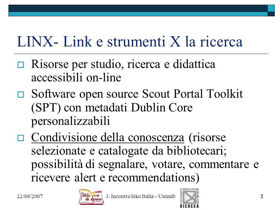 LINX- Link e strumenti X la ricerca