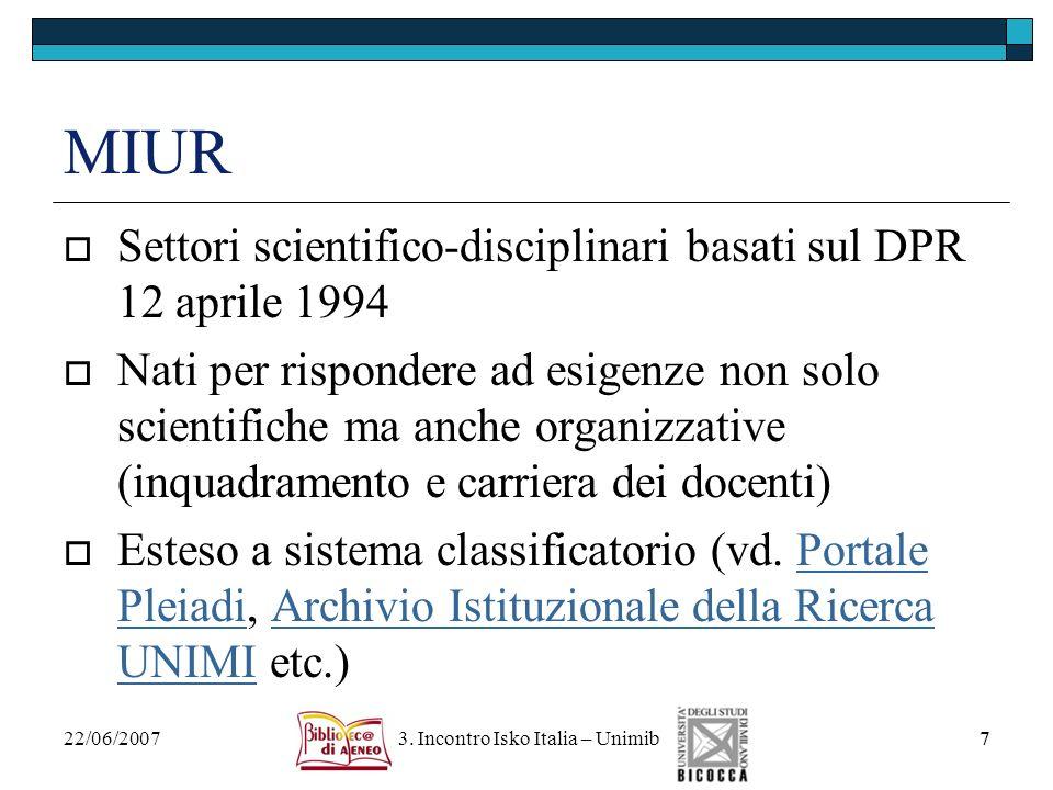3. Incontro Isko Italia – Unimib