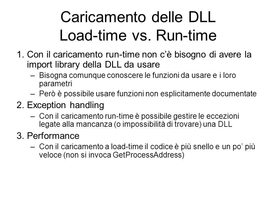 Caricamento delle DLL Load-time vs. Run-time