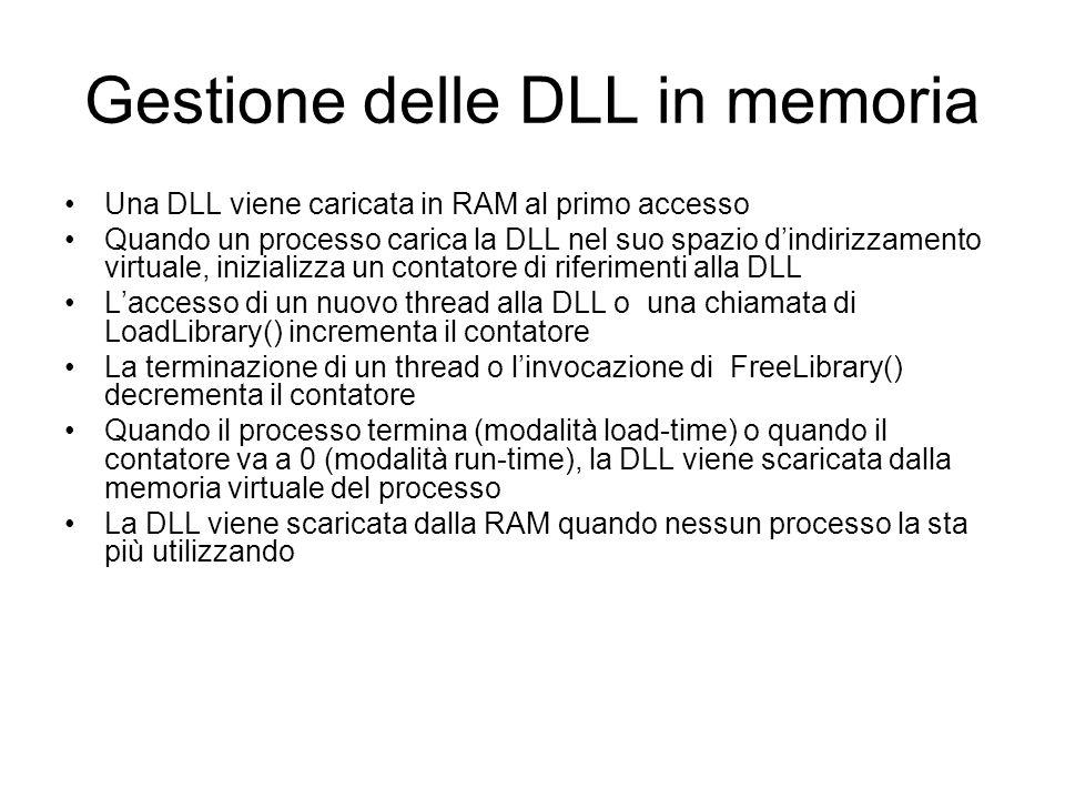 Gestione delle DLL in memoria
