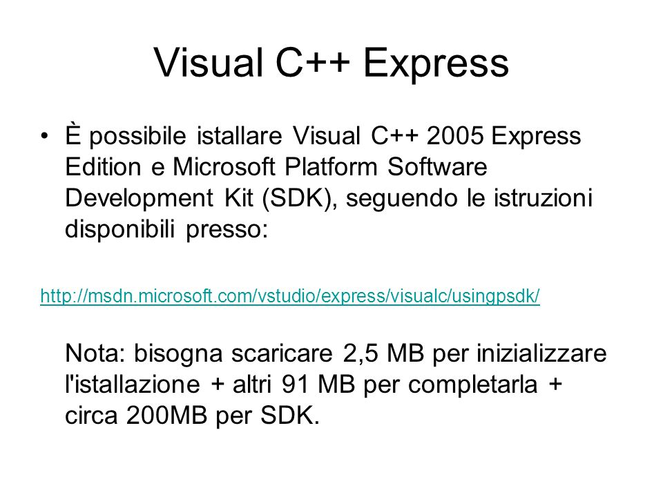 Visual C++ Express