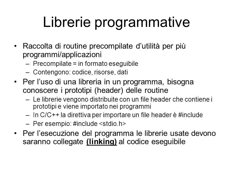 Librerie programmative