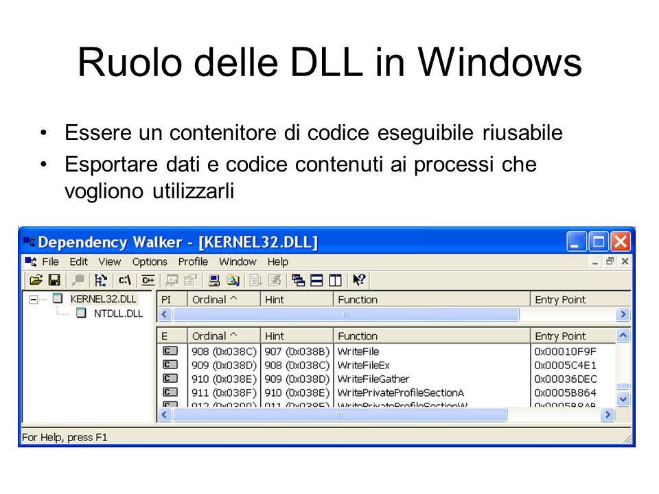 Ruolo delle DLL in Windows