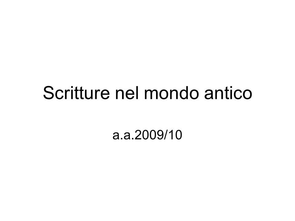 Scritture nel mondo antico